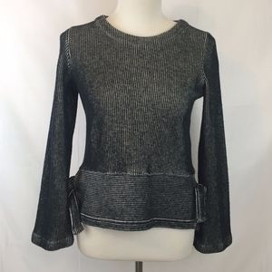 Madewell  |  French Rib Side Tie Sweater, XS